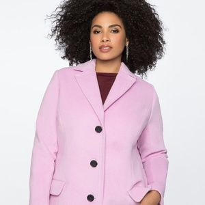 Eloquii Long Coat With Collar Detail